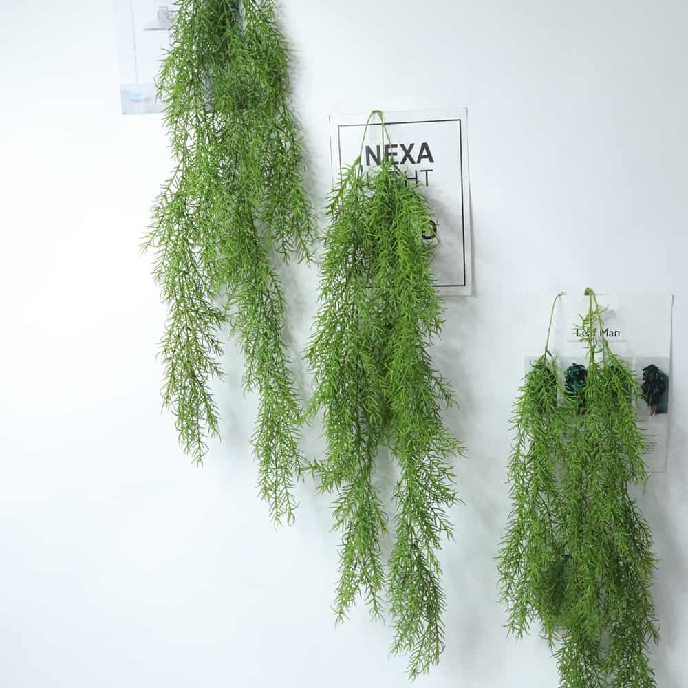 Artificial Plants Pine Needles Hanging Rattan - Green 5