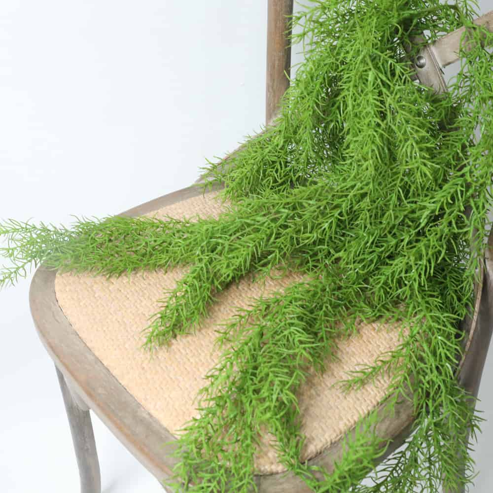 Artificial Plants Pine Needles Hanging Rattan - Green 4