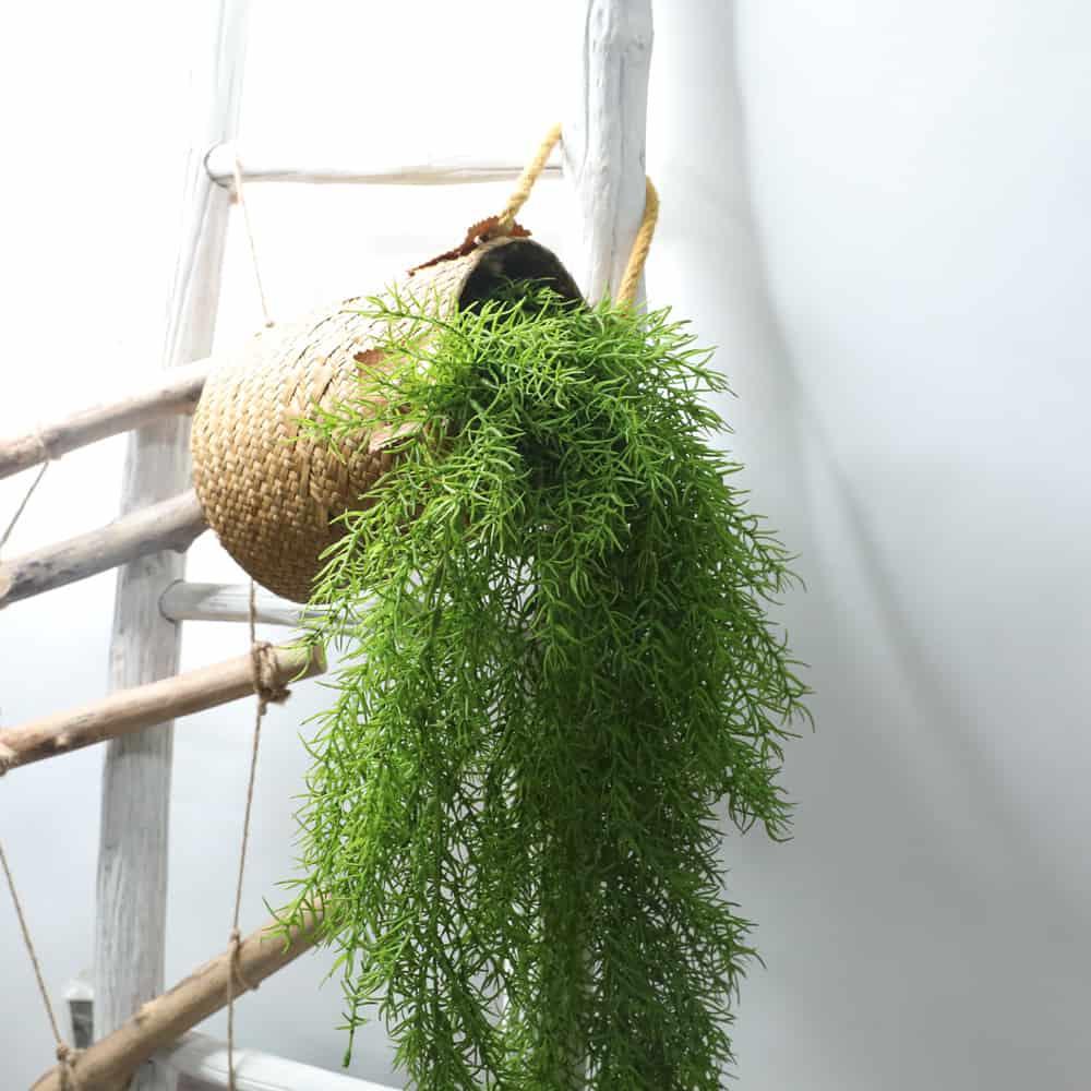 Artificial Plants Pine Needles Hanging Rattan - Green 3