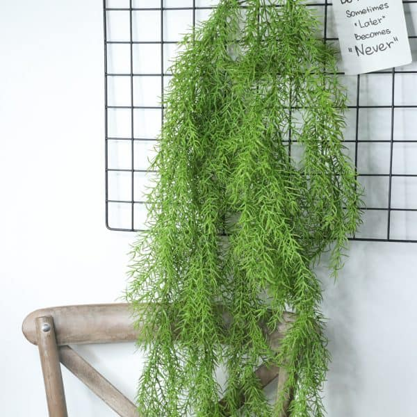 Artificial Plants Pine Needles Hanging Rattan - Green 2