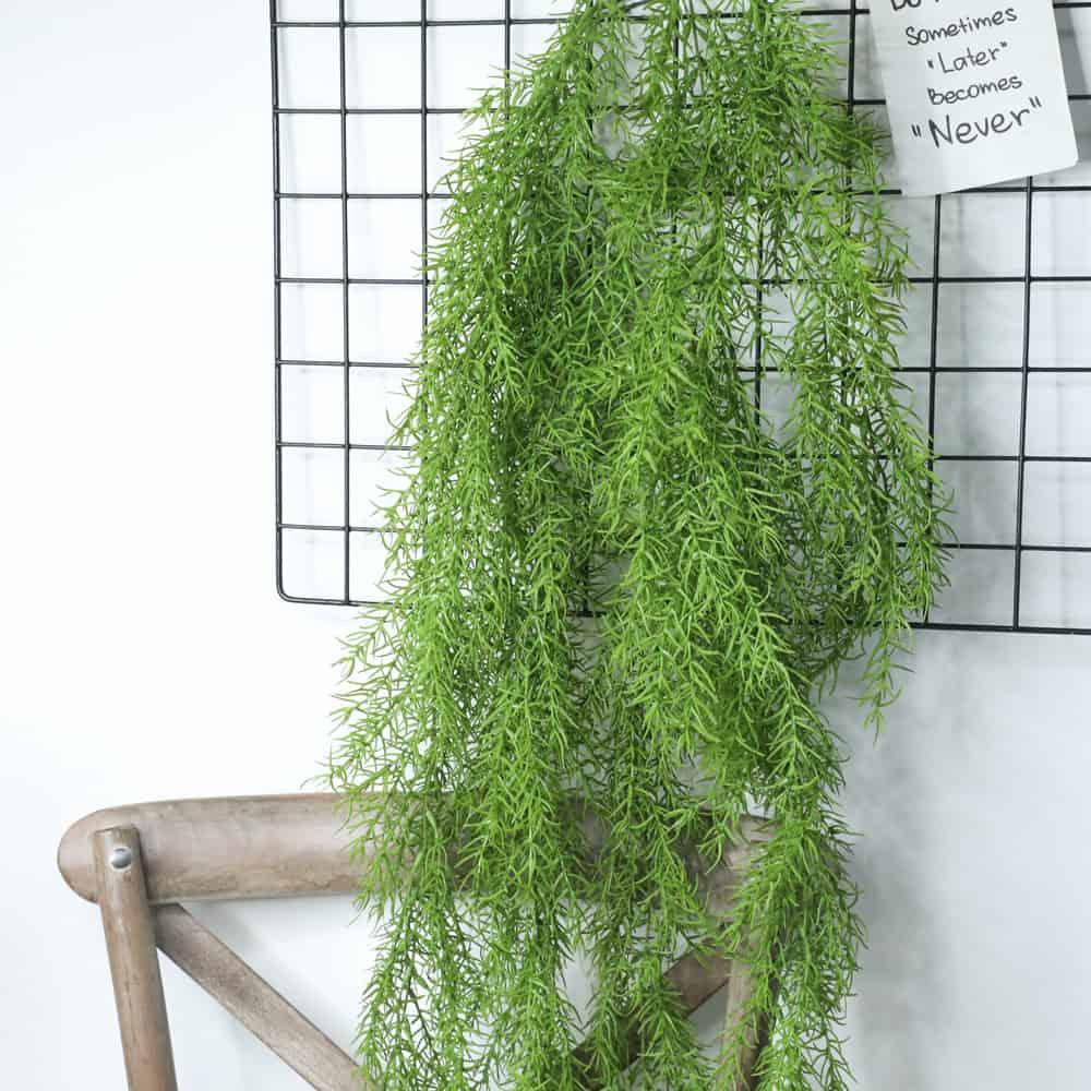 Artificial Plants Pine Needles Hanging Rattan - Green 2