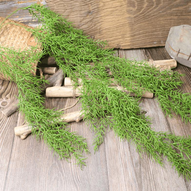 Artificial Plants Pine Needles Hanging Rattan - Green 221