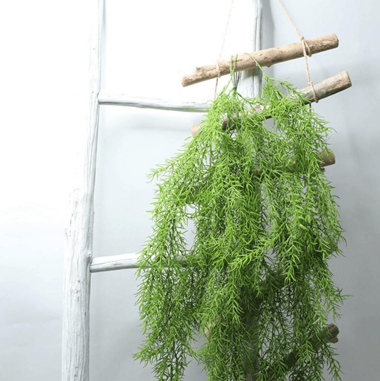 Artificial Plants Pine Needles Hanging Rattan - Green 22
