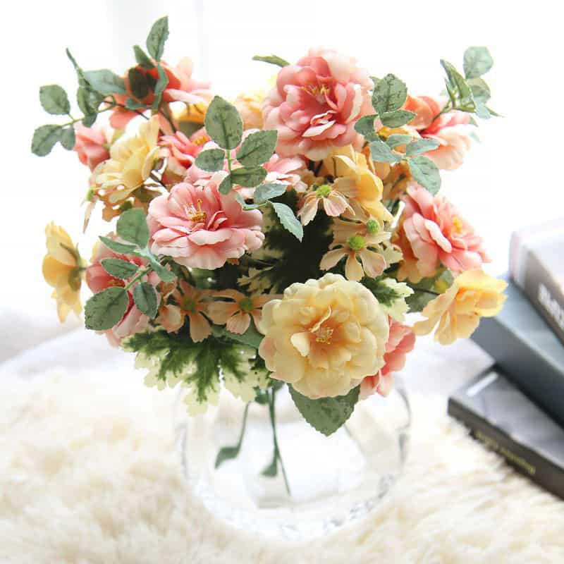 Artificial flower camellia bouquet 1