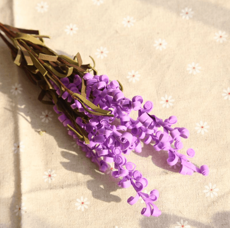 Artificial Outdoor Flowers Curly Lavender p