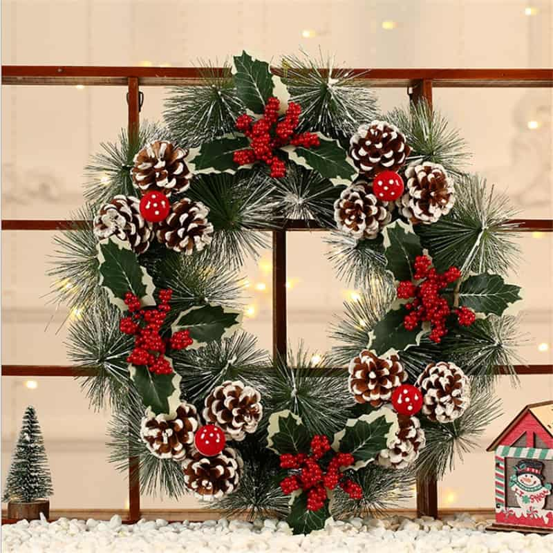 "Frosted Christmas Wreath 16 "" 2"
