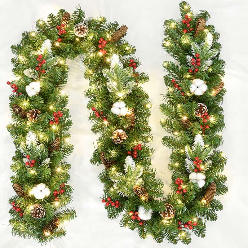 Christmas Garland Battery Operated with LED Lights