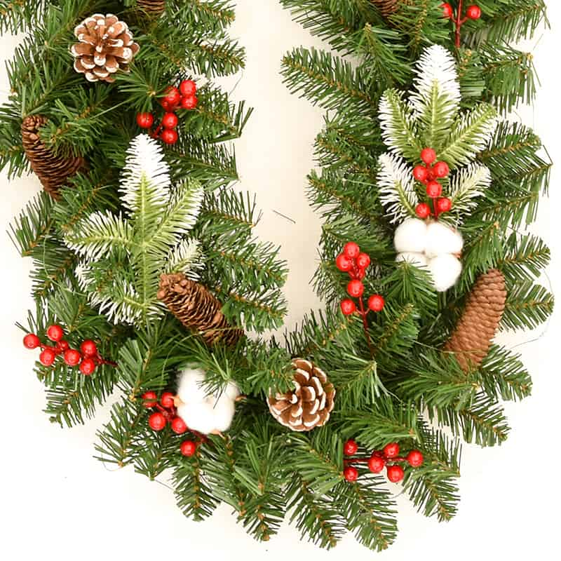 Christmas Garland Battery Operated with LED Lights 1