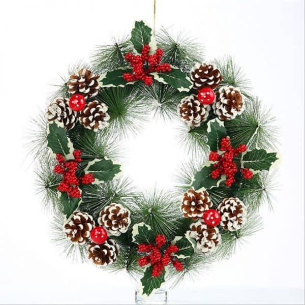 Frosted Christmas Wreath 16 ""