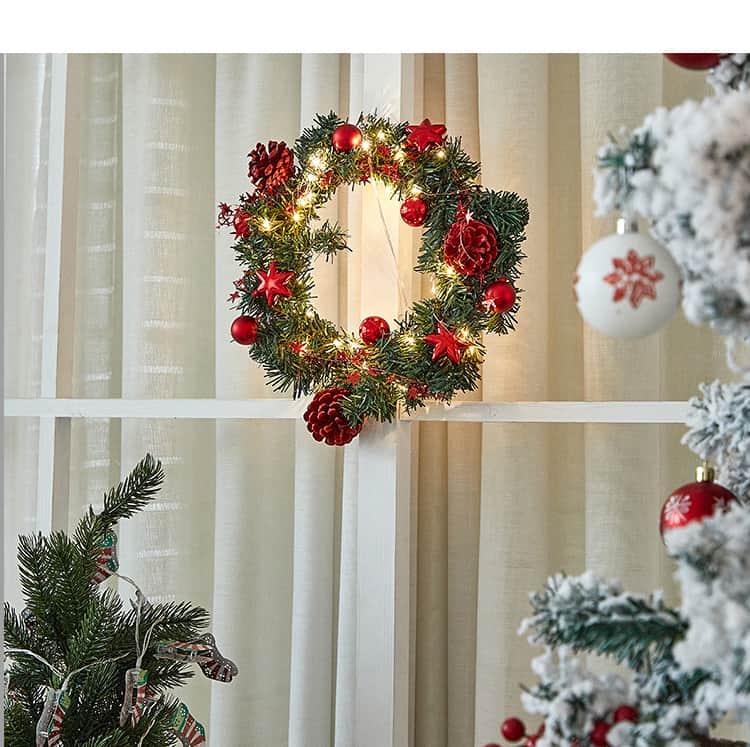 Pre-Lit Led Light Decorated Wreath 5