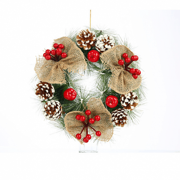 Frosted Christmas Wreath 12 ""