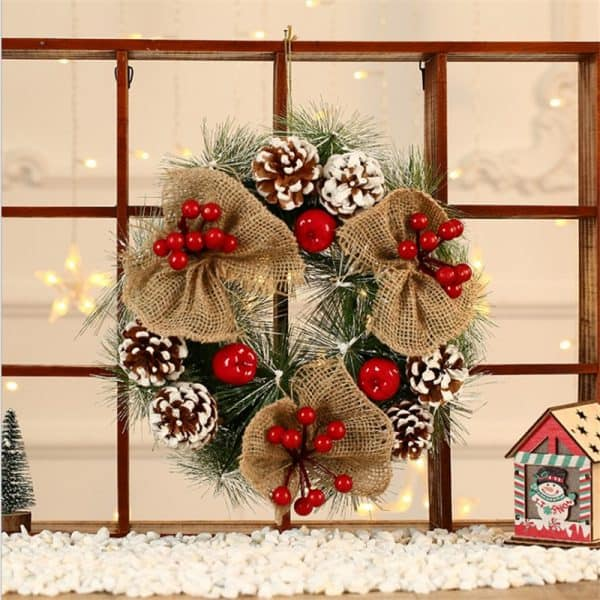"Frosted Christmas Wreath 12 "" 2"