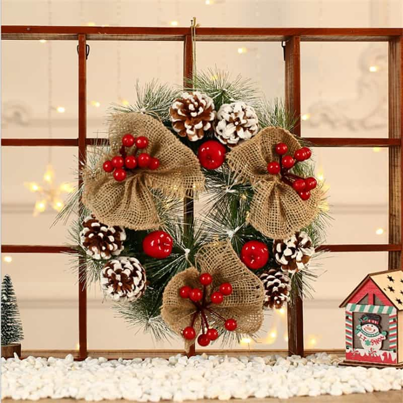 """Frosted Christmas Wreath 12 """" 2"""
