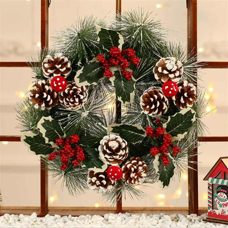 """Frosted Christmas Wreath 12 """" 1"""