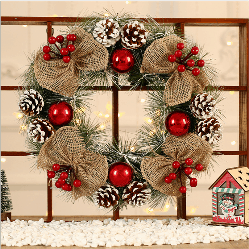 "Frosted Christmas Wreath 16 "" 1"
