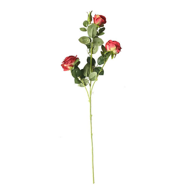 Artificial Flower Butter Rose 4 Heads 5