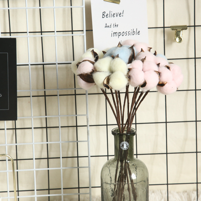 Artificial Plants Colored Cotton Bundle 3