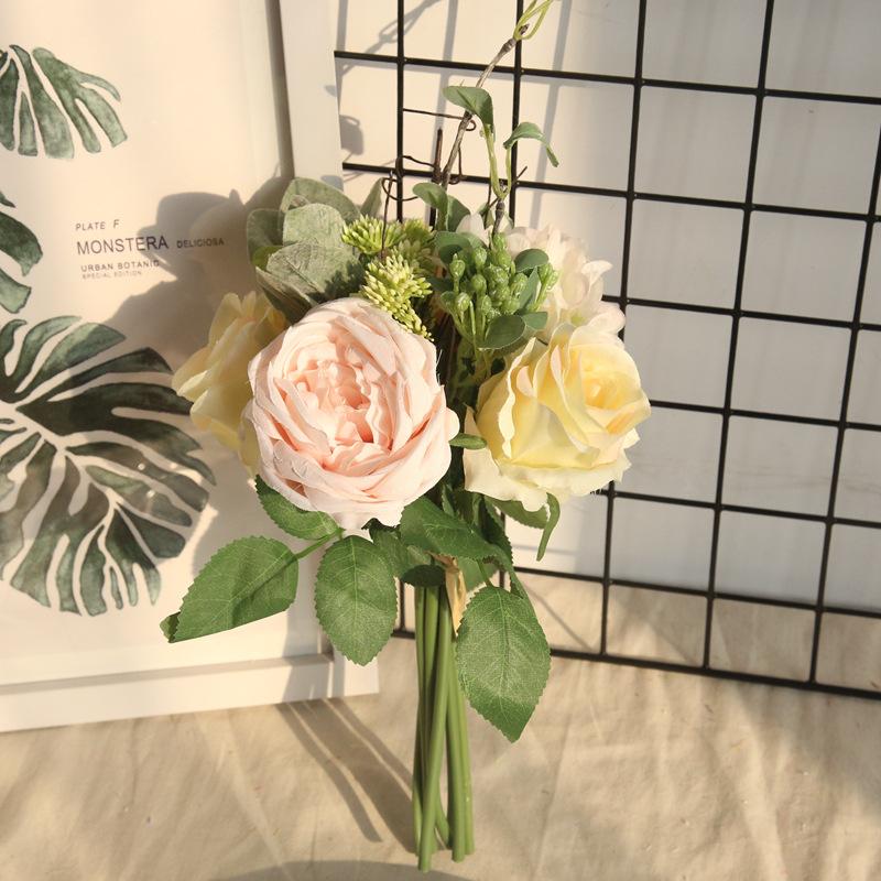 Rose Peony Hydrangea Bunch 4